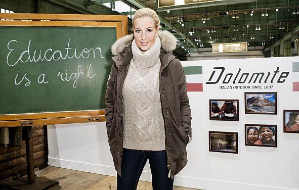 Charlotte Engelhardt posiert am 21.01.2011 auf dem Dolomite-Stand der BREAD & BUTTER, Berlin. Foto: Monique Wuestenhagen