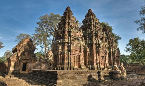 Der Banteay Srei Tempel in Angkor - Bild: www.fernost-entdecken.de