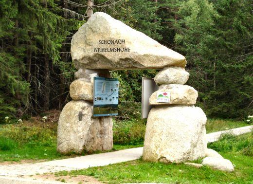 Westweg Portal bei Schonach an der Wilhelmshöhe. - Copyright: © STG