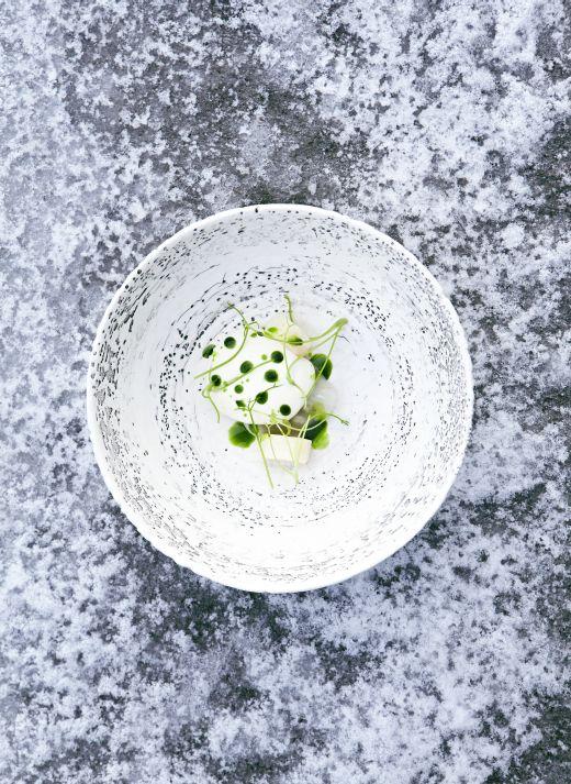 kjørvel og sellerirot - Restaurant Maaemo - Fotograf: Jimmy Linus