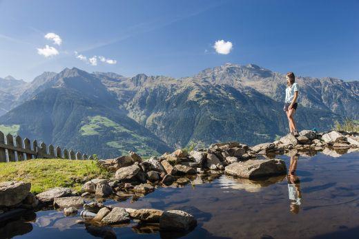 Schennaberg ist eins der mitwirkenden Wandergebiete beim Schenner Almenfest. Bildnachweis: Tourismusverein Schenna